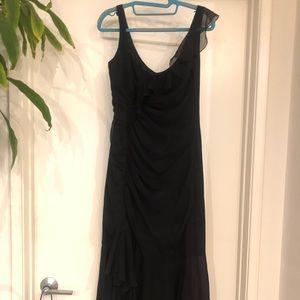 Elie Tahari black ruffle dress